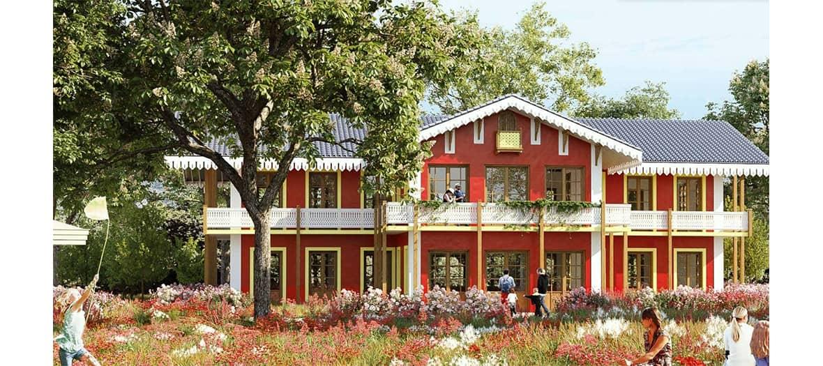 La terrasse de Rosa Bonheur au bois de Vincennes