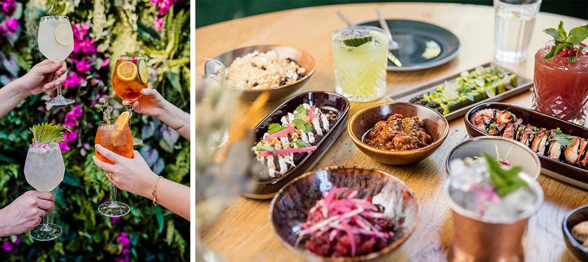 Les plats et les cocktails de Mohamed Cheikh chez Manzili