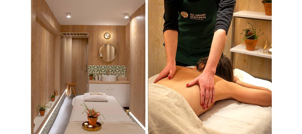 The slimming massage institute Les Jardin Suspendu