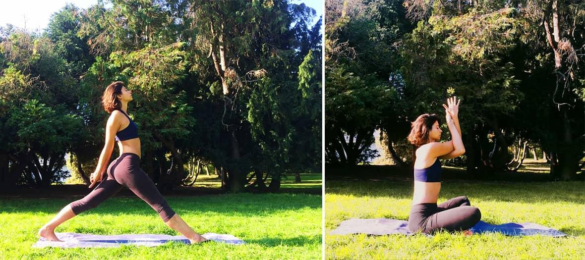 A yoga session with cuatrovientos00 at Parc Montsouris