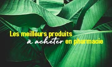Les meilleurs produits à acheter en pharmacie avec La Rosée, Eneomey, Cicabiafine, Skinceuticals, Decléor, Pranarom, Patchness, Pureessentiel et Darphin.
