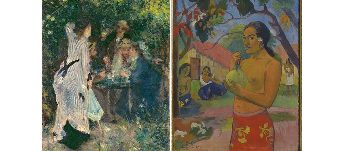 Renoir and Gaugin paintings exhibitions