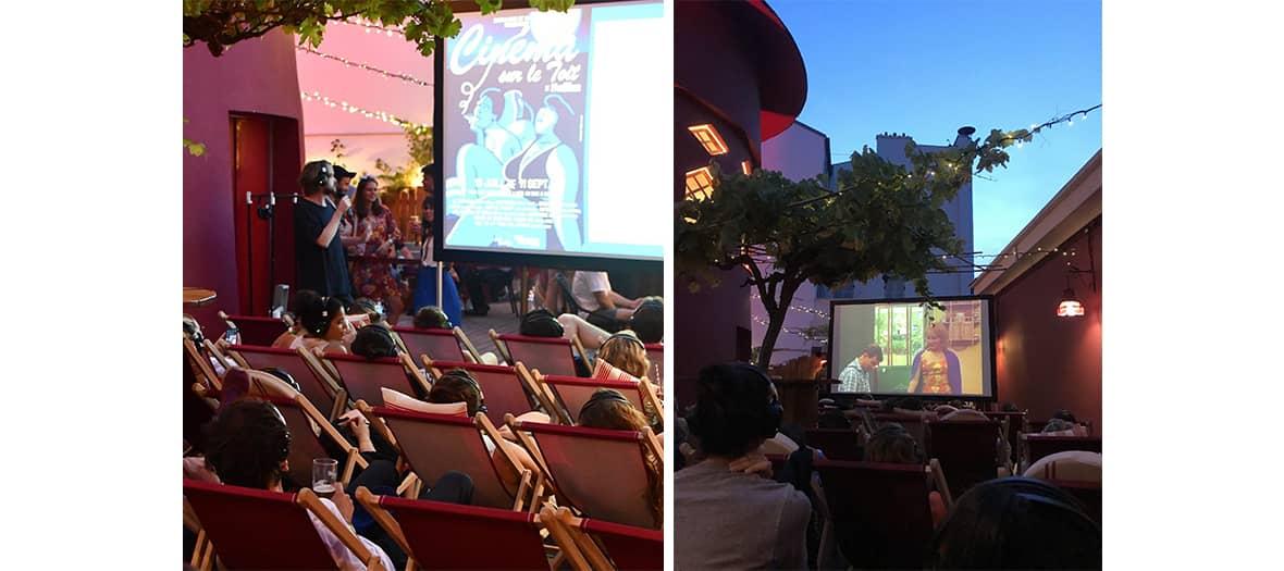 Le cinéma en plein air au Moulin Rouge