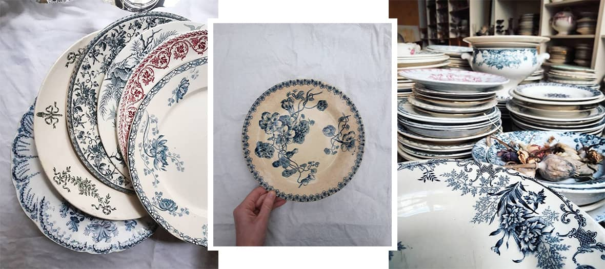 The Blanche Patine vintage tablewear instagram account