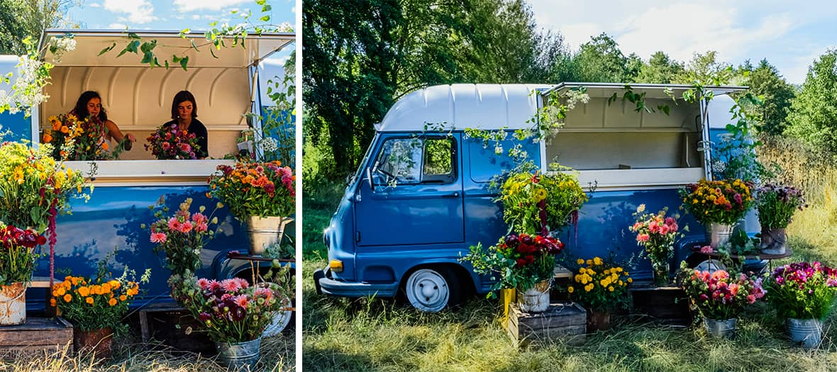 an innovative, modern and committed flower truck direct from the markets.