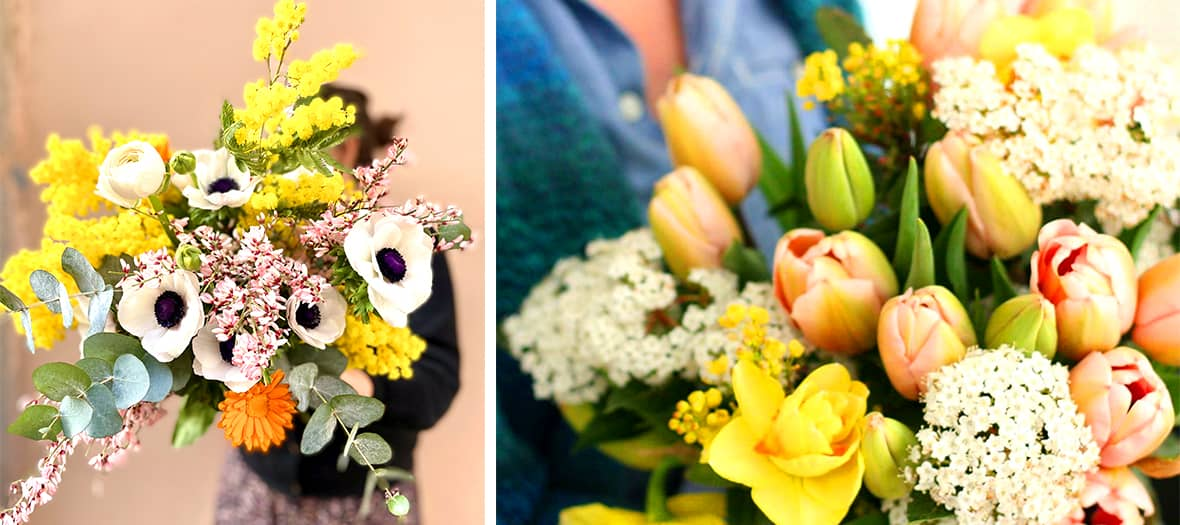 Fleurs d'Ici is a pioneering label for ethical flowers, offering highly poetic bouquets with a very English spirit.