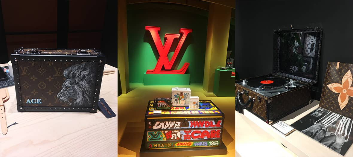La collection de vinyles de Virgil Abloh à la boutique Louis Vuitton à Paris