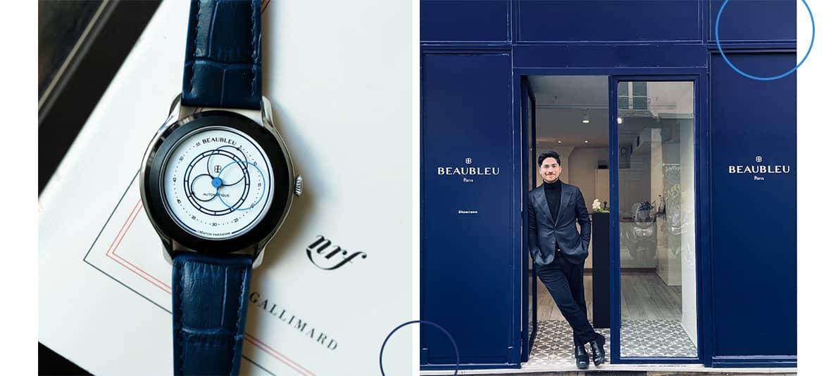 La marque de montre Beau bleu homme à Paris