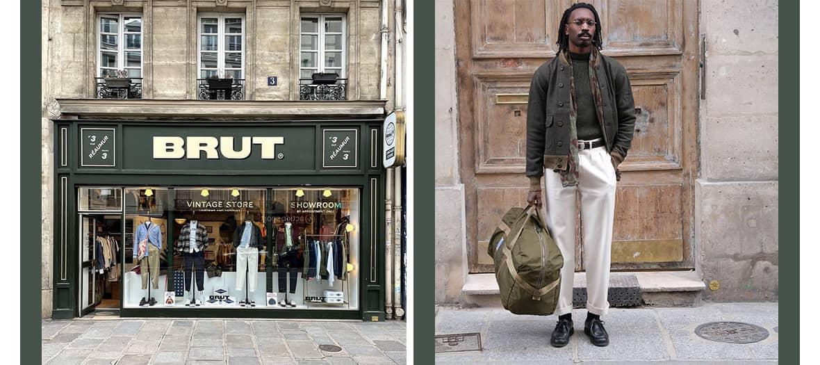 La boutique Brut Clothing à Paris