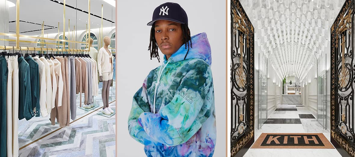 Hip hop clothes at the Kith store in Paris
