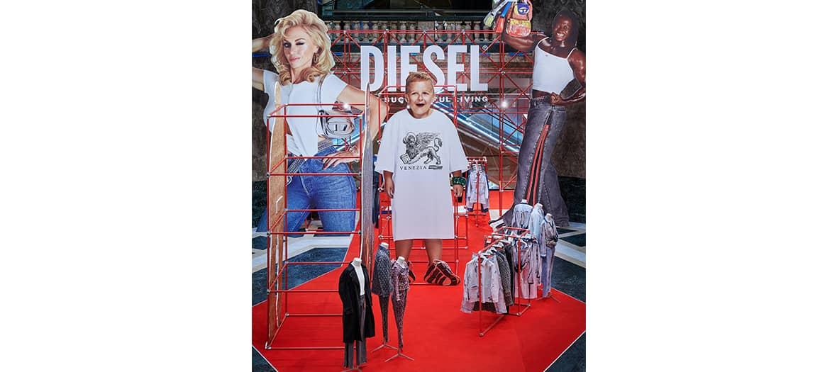 Diesel pop up at Galeries Lafayette Champs Elysées