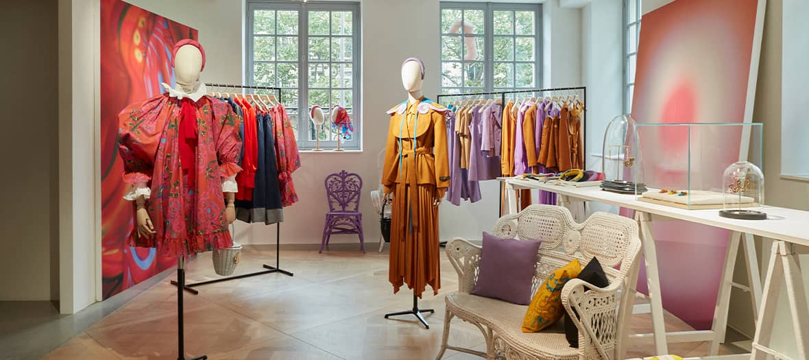 The Patou pop up by LVMH at Saint-Germain in Paris