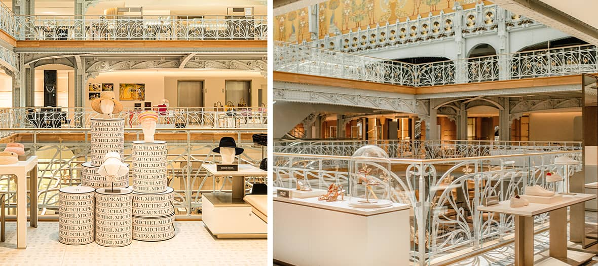accessorie and shoes brands at la samaritaine in Paris