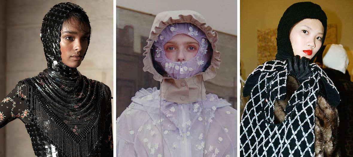Trendy balaclavas by Paco Rabanne, Alessandro Michele and Shrimps