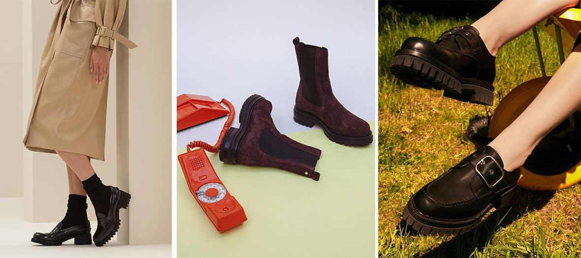 Chaussure a semelles crantées Church's , CosmoParis, Minelli