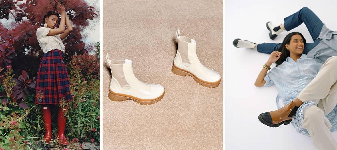 Les chaussures pour la pluie Hunter, Stella McCartney et Lemon Jelly