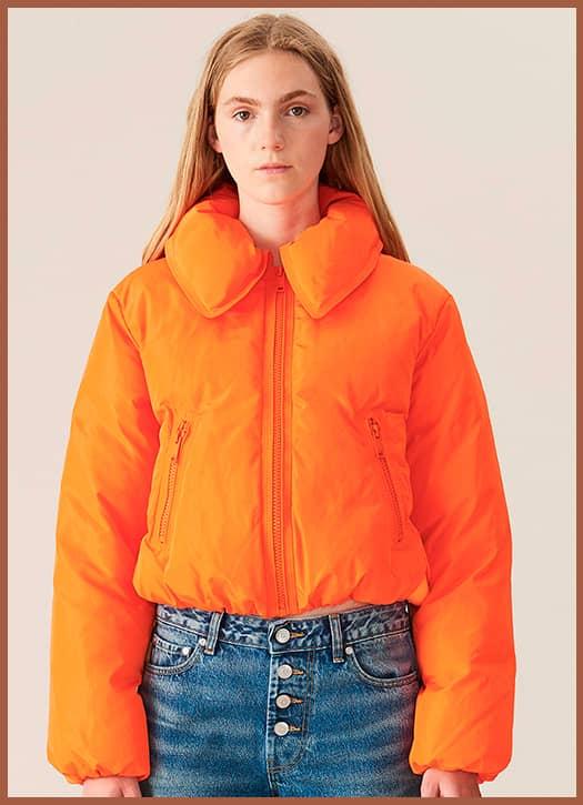 Veste Tech Down orange, Ganni