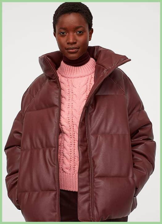 Doudoune en imitation cuir, H&M