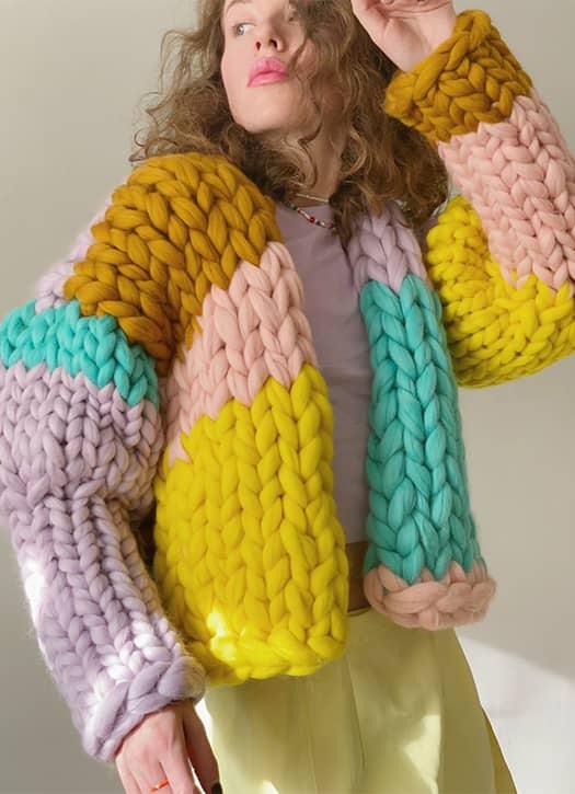 Cardigan en laine surdimensionnée, YourYarnUa sur Etsy