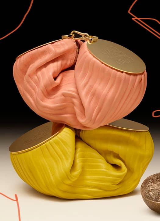 Bracelet pouch in pleated nappa, Loewe