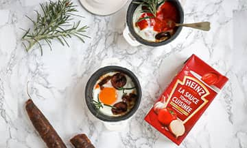Oeufs Cocotte Tomato Ketchup