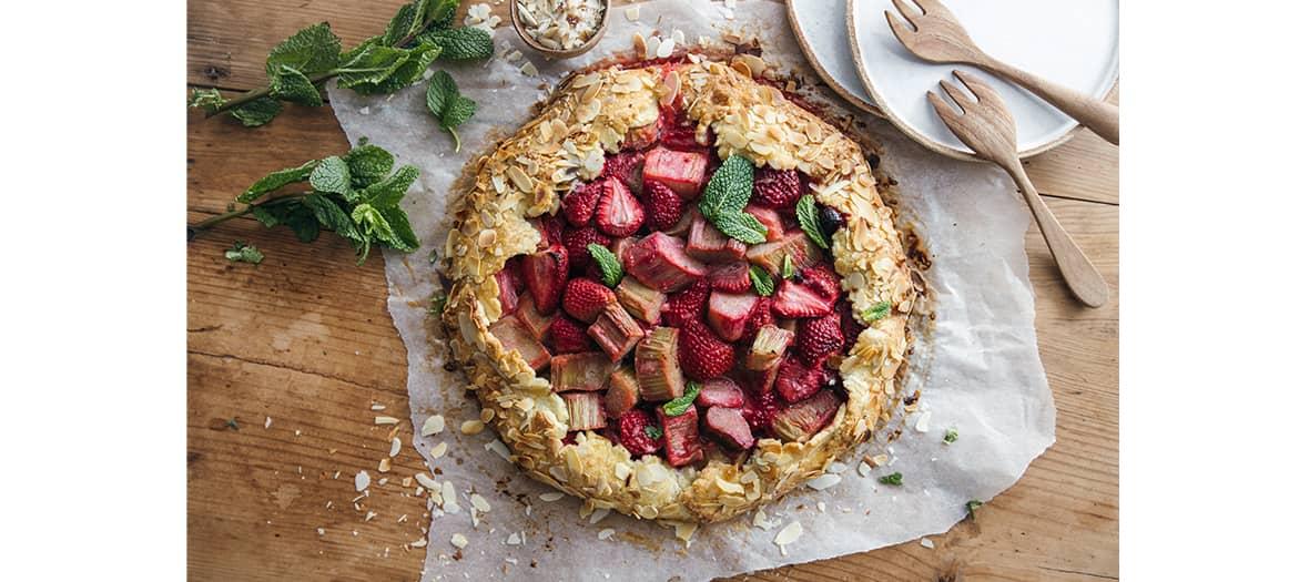 La tarte à la fraise et rhubarbe de Emilie Franzo