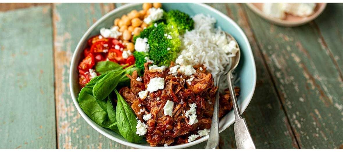 La recette du buddha bowl à l'agneau par le collectif jadorelagneau