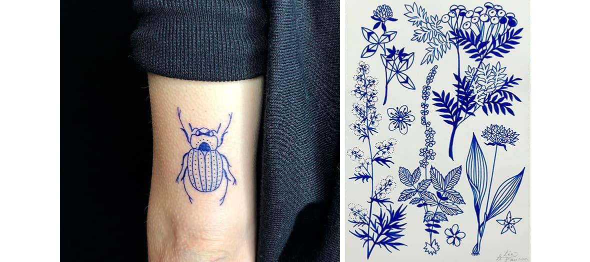Léa Lefaucon à la menuiserie tatouage