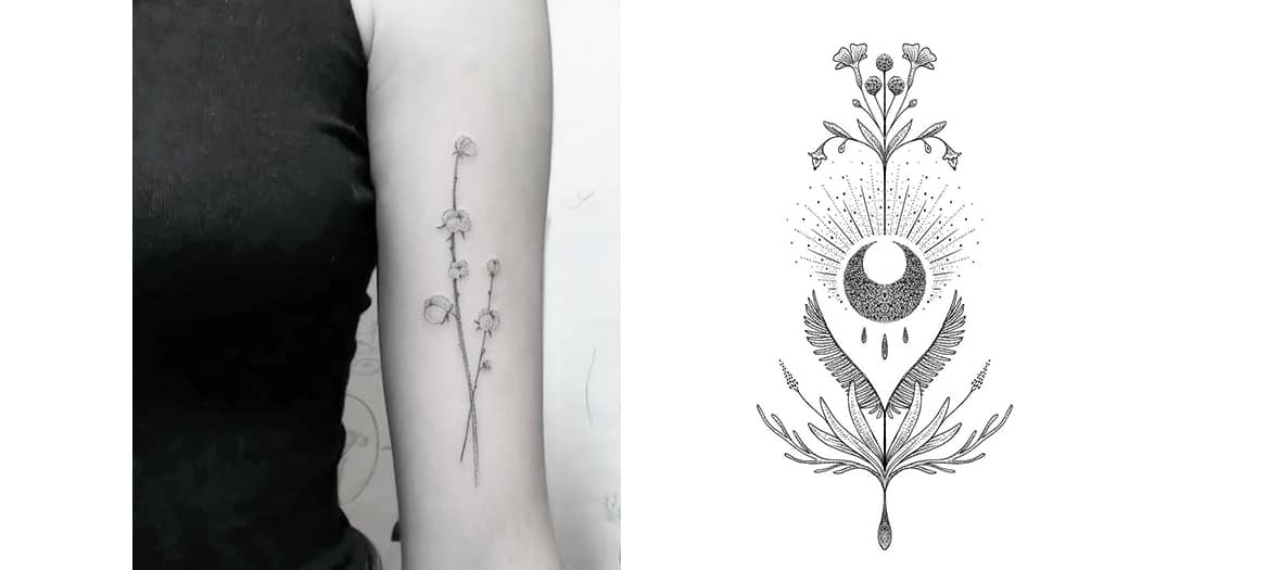 Selune tatouages Sélune chez Maison Yōso