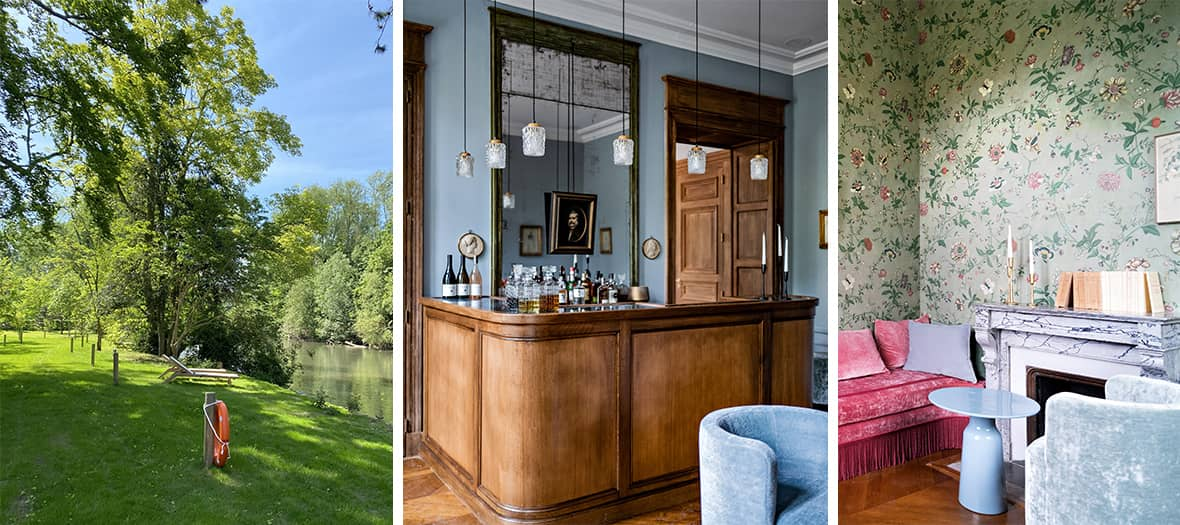 The bar and a room at Domaine Primard