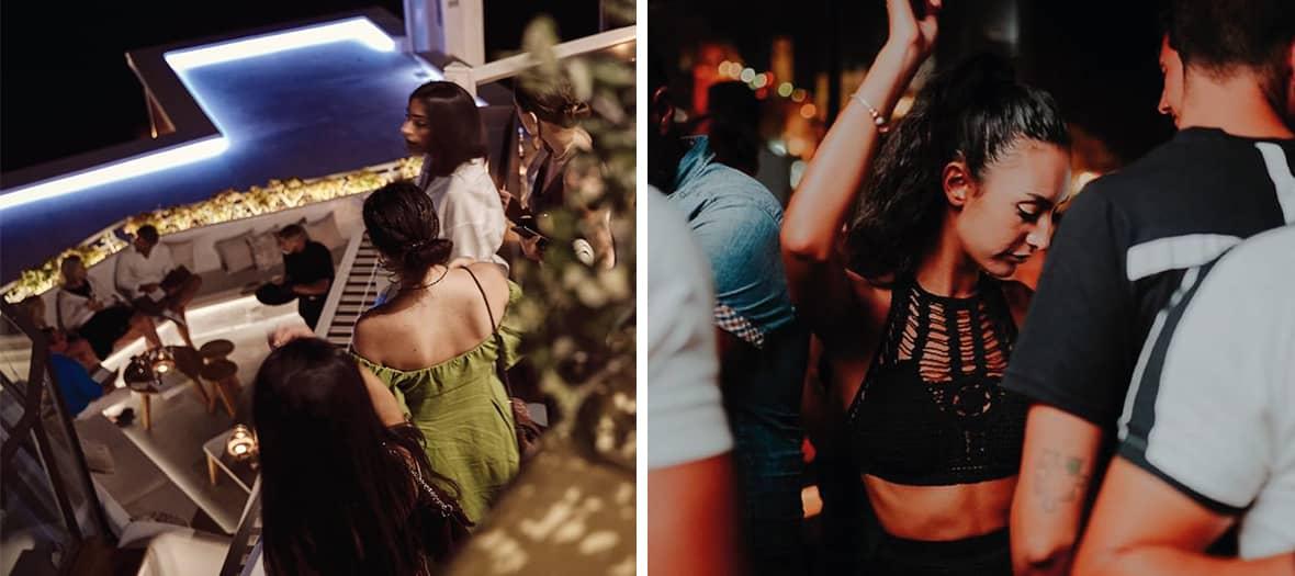 Soirée au Tango bar à Fira