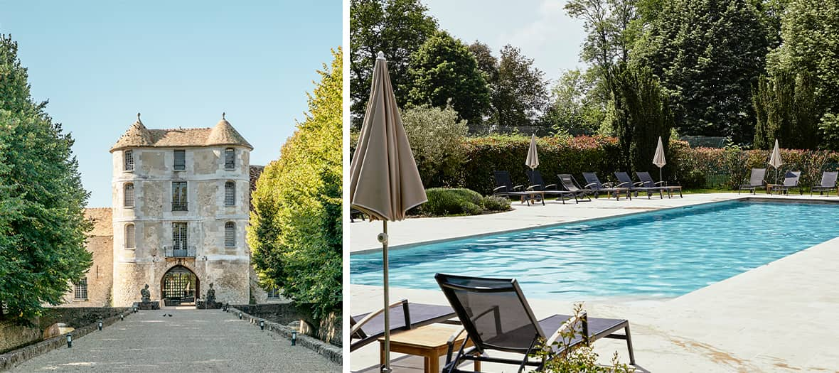Swimming pool in the castle of Villiers le Mahieu