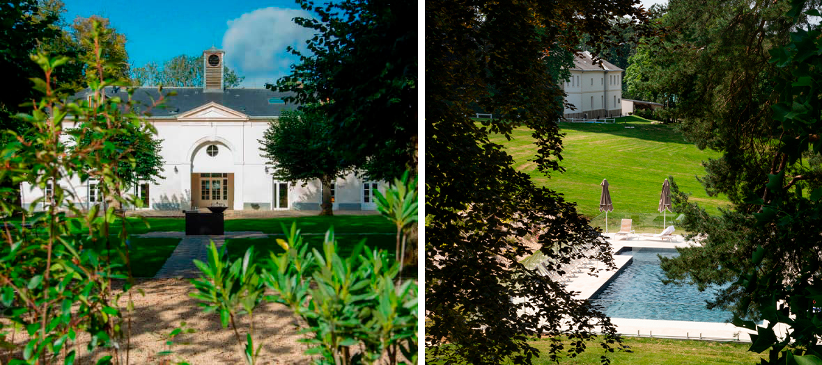 Terrace and pool at the Domaine des Mafflier