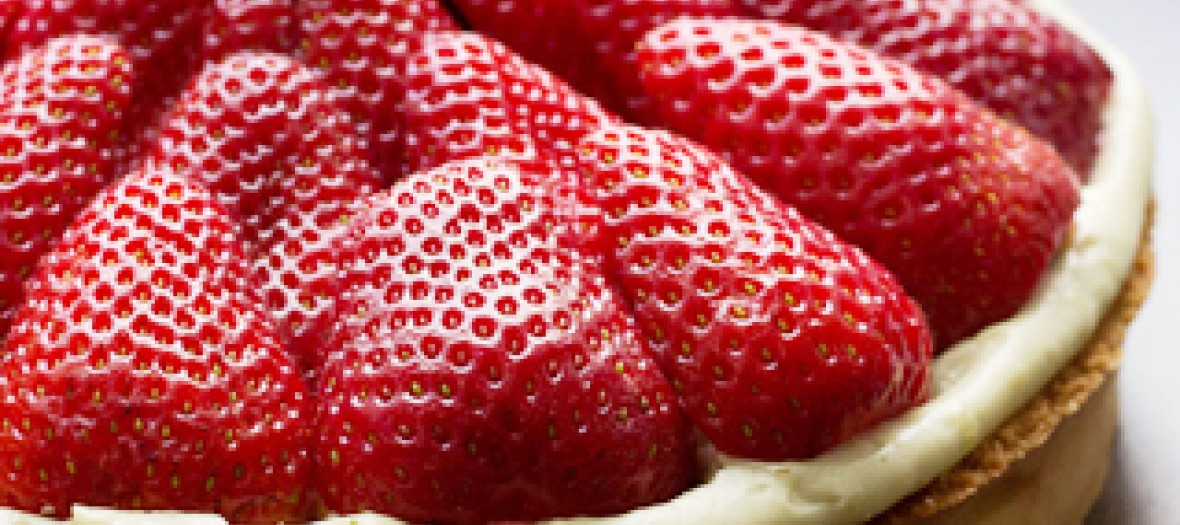 Tarte aux fraises basilic