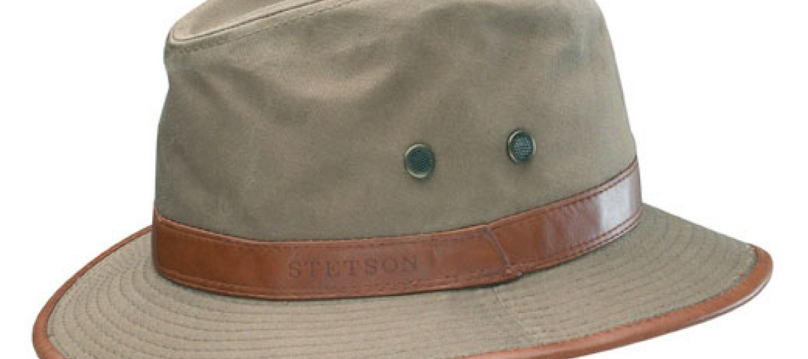 Stetson Stetson hat in kaki cotton canvas and brown leather 69EUR