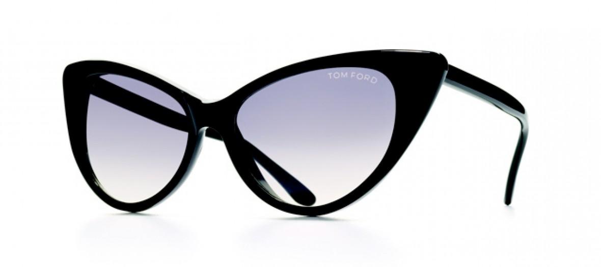 97200fc9f107c Tom Ford Lunettes de soleil papillon en acétate noir 372€