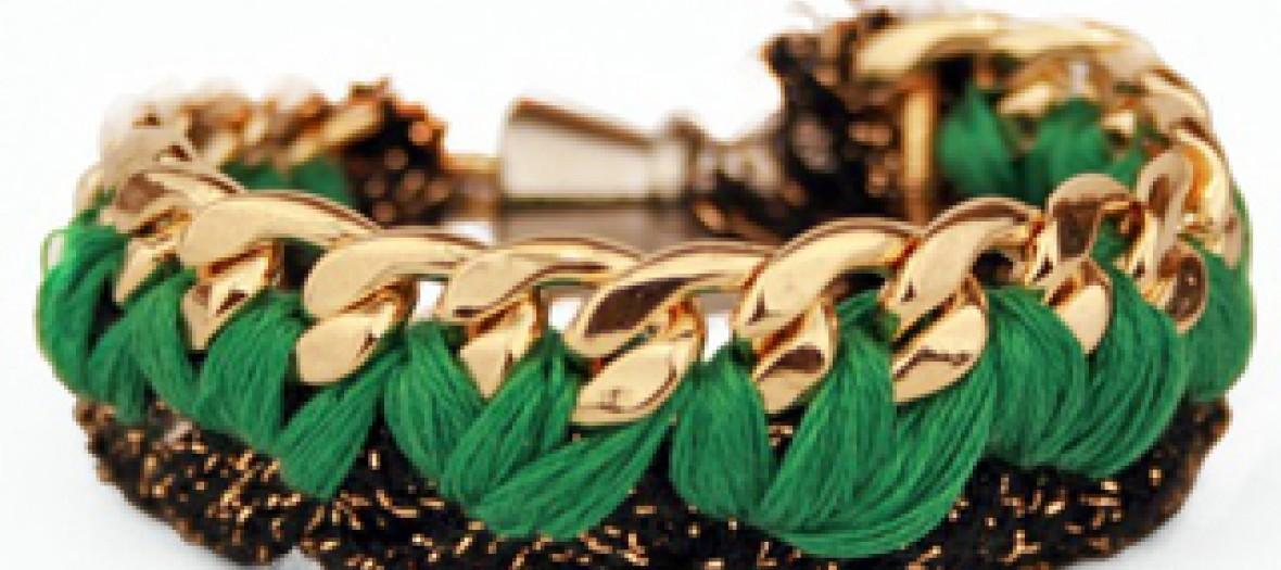 Bracelet tressé vert