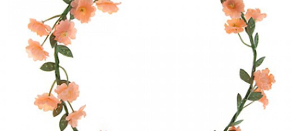Couronne de fleur corail