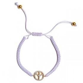 Bracelet tressée «Paix»