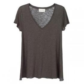 T-shirt col en V American Vintage
