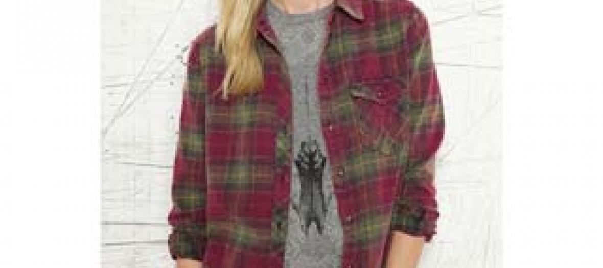 Chemise à carreaux, Urban Outfitters