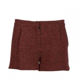 Short en tweed rouge Axara