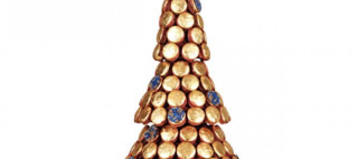 L'expo de sapins de Noël Ladurée