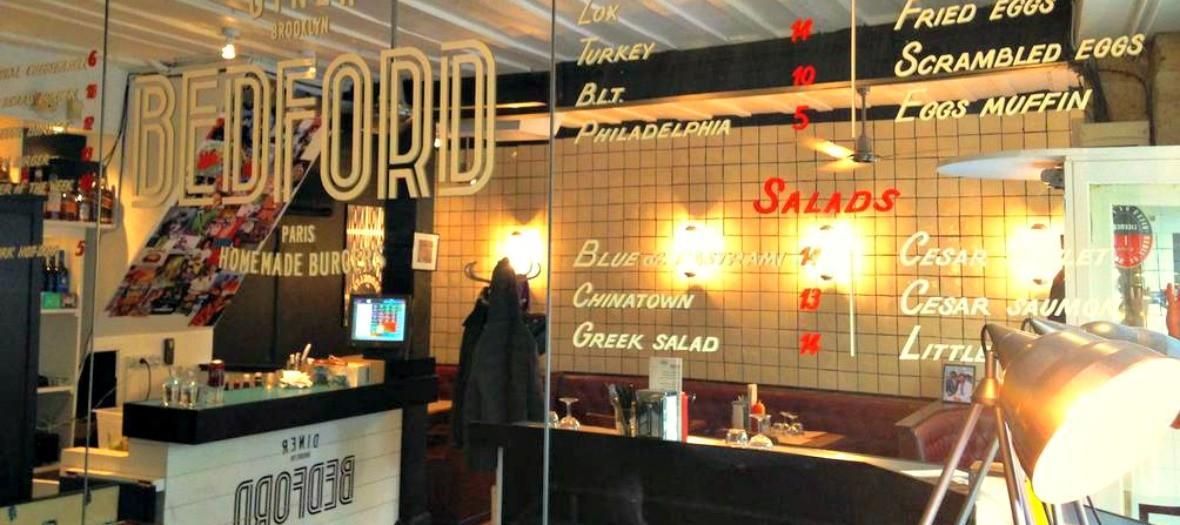 Diner Bedford, vitrine