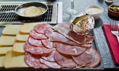 Fondus De Raclette, plat